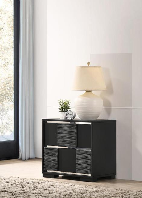 Blacktoft Collection - Blacktoft 2-drawer Nightstand Black