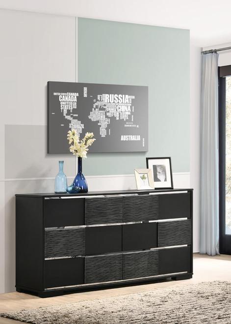 Blacktoft Collection - Blacktoft 6-drawer Dresser Black