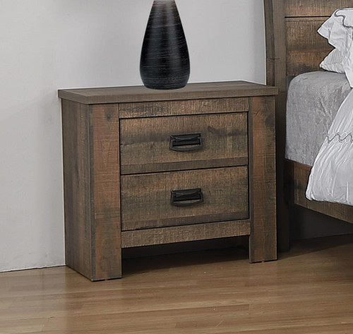 Frederick Collection - Frederick 2-drawer Nightstand Weathered Oak