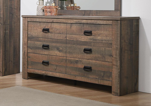 Frederick Collection - Frederick 6-drawer Dresser Weathered Oak