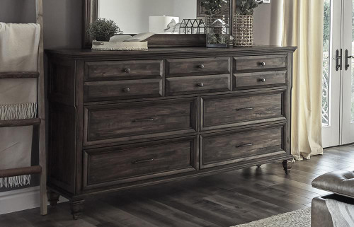 Avenue Collection - Avenue 10-drawer Dresser Weathered Burnished Brown