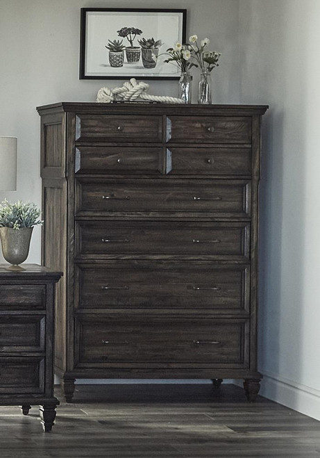 Avenue Collection - Avenue 8-drawer Chest Weathered Burnished Brown