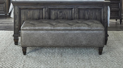 Avenue Collection - Brown - Avenue Upholstered Tufted Bench Weathered Burnished Brown - (223036)