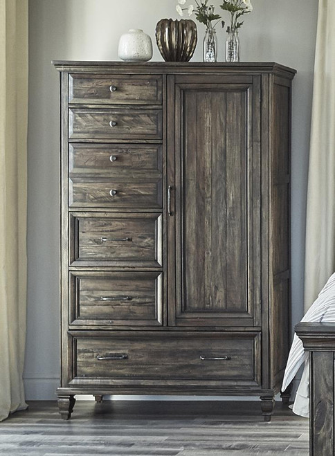Avenue Collection - Avenue 6-drawer Door Chest Weathered Burnished Brown