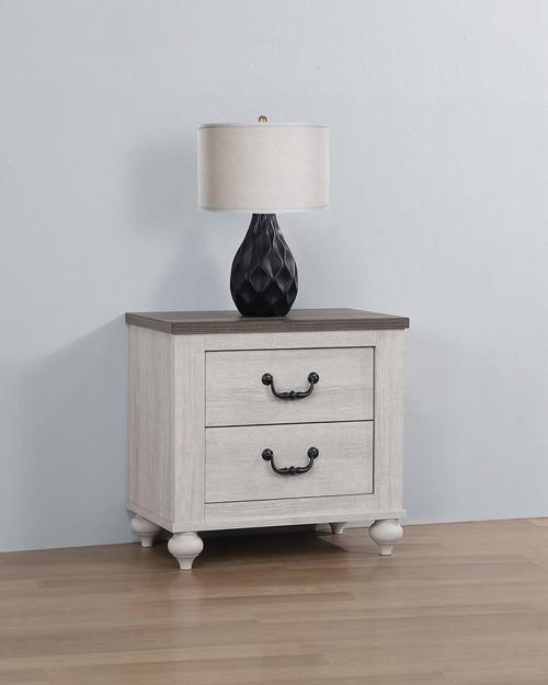 Stillwood 2-drawer Nightstand Vintage Linen - (223282)