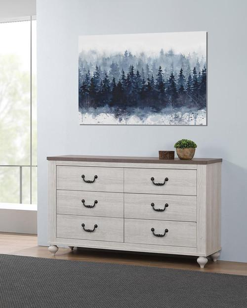 Stillwood 6-drawer Dresser Vintage Linen - (223283)