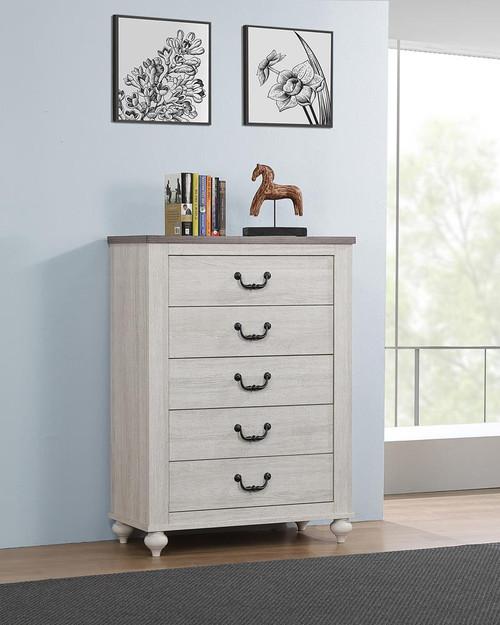 Stillwood 5-drawer Chest Vintage Linen - (223285)