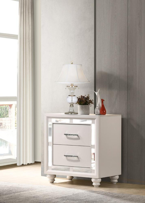 Whitaker Collection - Whitaker 2-drawer Nightstand White