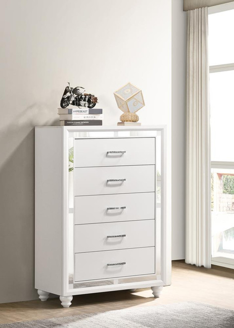 Whitaker Collection - Whitaker 5-drawer Chest White