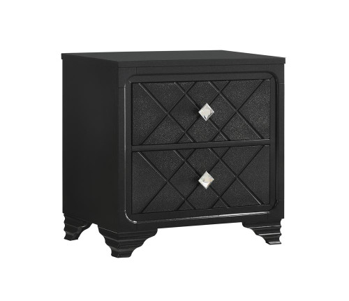 Penelope Collection - Penelope 2-drawer Nightstand Black
