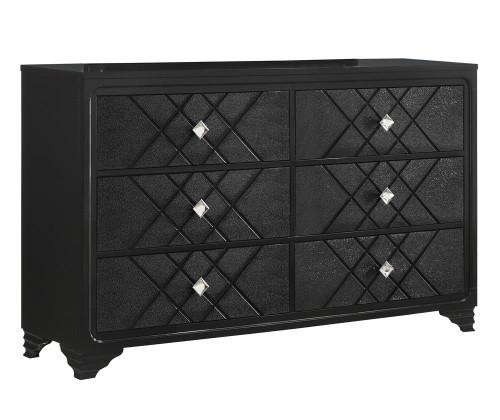 Penelope Collection - Penelope 6-drawer Dresser Black