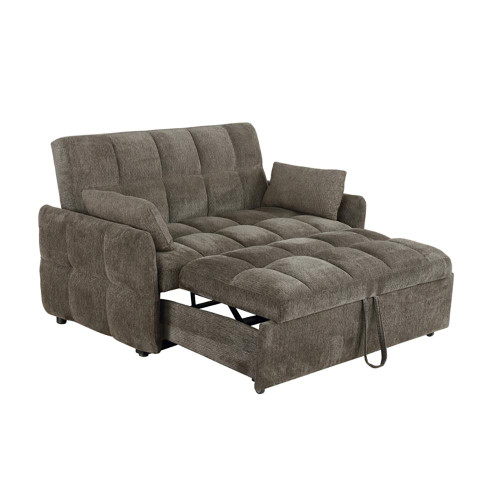 Brown - Cotswold Tufted Cushion Sleeper Sofa Bed Brown