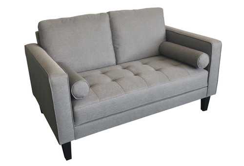 Charcoal - Lennox Track Arm Upholstered Loveseat Charcoal