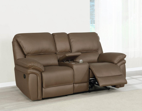 Brown - Motion Loveseat W/ Console - (651342)
