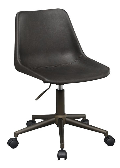 Brown - Adjustable Height Office Chair With Casters Brown And Rustic Taupe