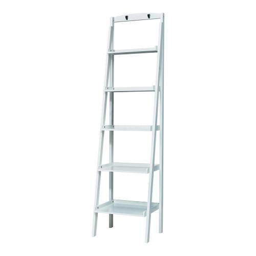 5-tier Ladder Bookcase White