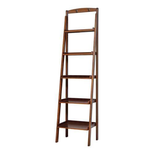 5-tier Ladder Bookcase Cherry