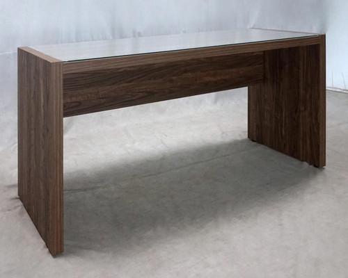 Luetta 59-inch Rectangular Writing Desk Aged Walnut