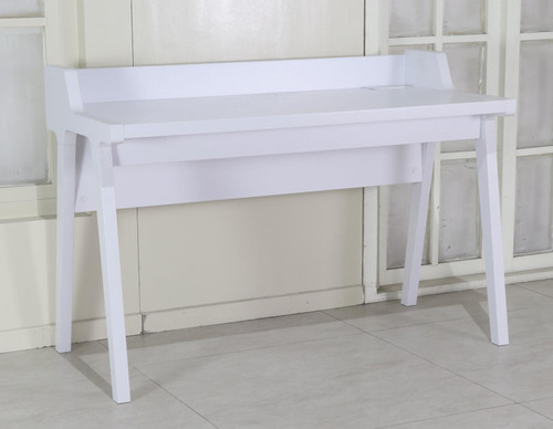 Paiter Writing Desk With Power Outlet White