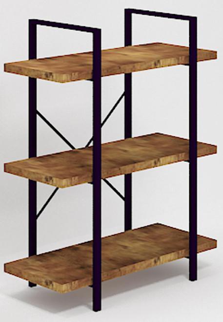 3-shelf Bookcase Antique Nutmeg And Black