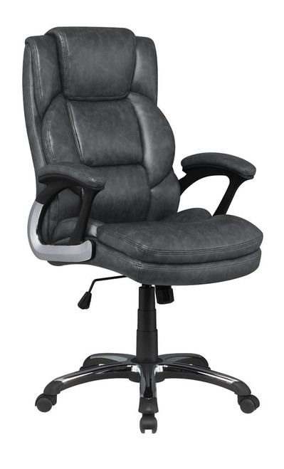 Grey - Adjustable Height Office Chair With Padded Arm Grey And Black