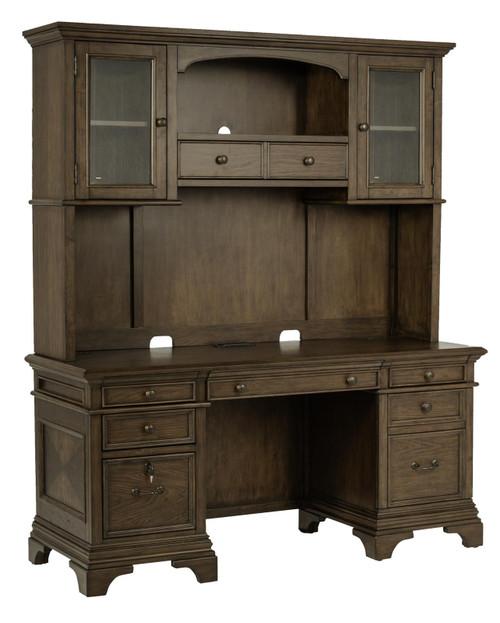 Hartshill Collection - Hartshill Credenza With Hutch Burnished Oak - (881283)