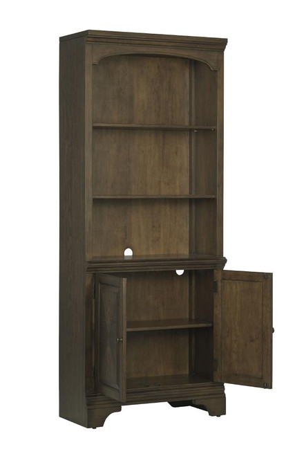 Hartshill Collection - Hartshill Bookcase With Cabinet Burnished Oak