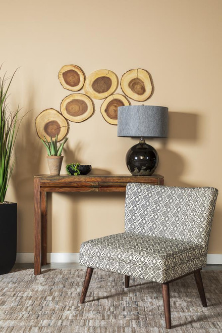 Accents : Chairs - Black - Wooden Leg Accent Chair Black And White
