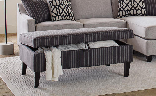 Black/white - Storage Ottoman