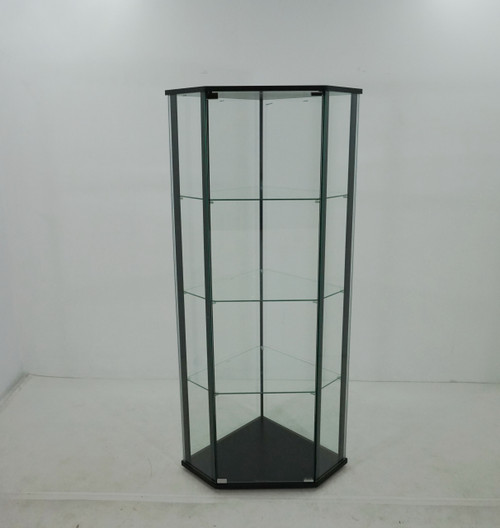 Glass Shelf Curio Cabinet Clear And Black