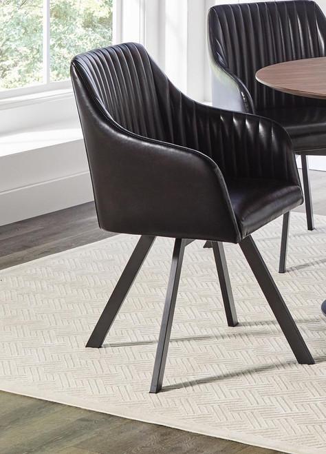 Black - Swivel Dining Chair - (193372BLK)