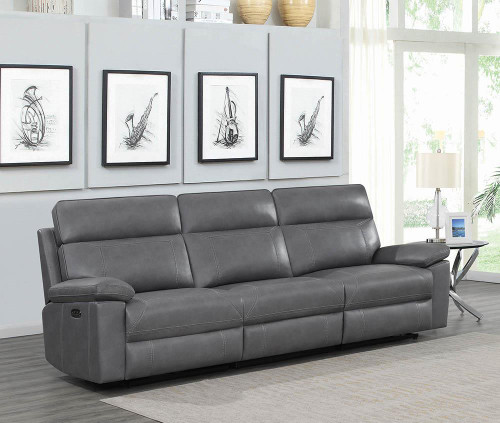Albany Motion Collection - Grey - 3 Pc Power2 Sofa