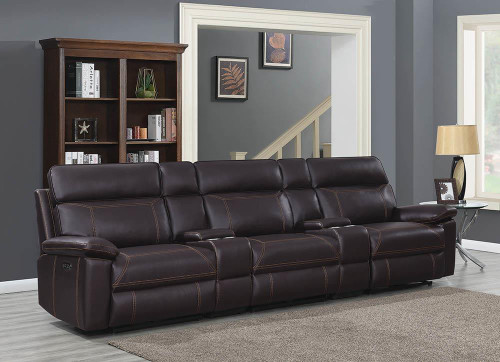 Albany Motion Collection - Brown - 5 Pc Power2 Home Theater