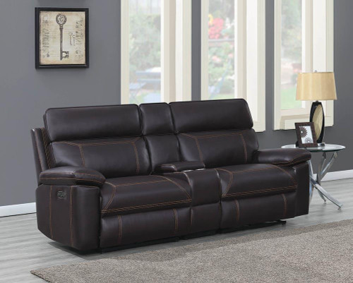 Albany Motion Collection - Brown - 3 Pc Power2 Loveseat
