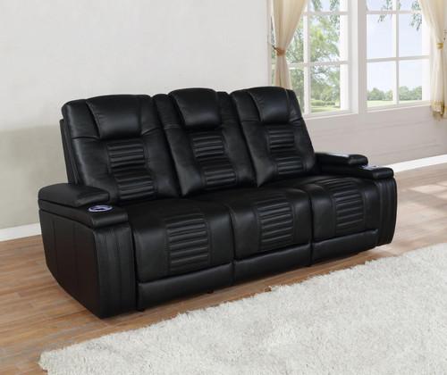 Black - Power2 Sofa - (651301PP)