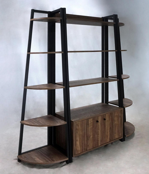 Jacksonville 3-piece Bookcase With Cabinet Aged Walnut