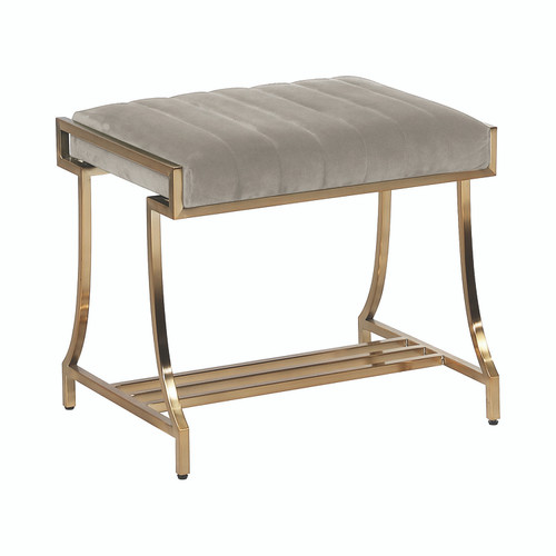 Formosa Upholstered Vanity Stool Camel