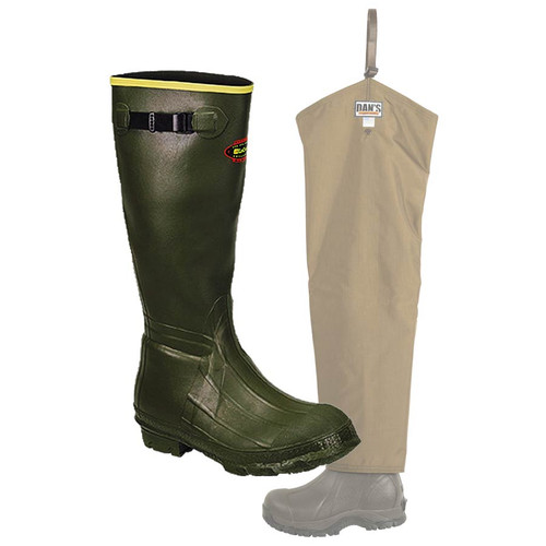 Insulated LaCrosse Burly Classic Knee Boot with Dan's Five Star Chap