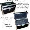"""12 Microphones With Compartment - 1/4"""" ATA Case"""