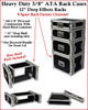 """New 8 Space 8u 12"""" Deep 3/8"""" Ply ATA Effects Rack Case"""