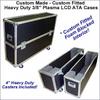 """Custom Single Plasma LCD ATA Cases Heavy Duty 3/8"""" Ply 61"""" - 70"""""""