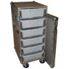 "6 Small Tub - Drawer 3/8"" Ply Heavy Duty ATA Case w/Wheels"