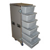 "6 Large Tub Drawers 3/8"" Ply ATA Case w/Lid Table/Wheels"