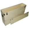"""37"""" Plasma LCD - 1/2"""" Bare Wood Crate Style Case  - Kit Form"""