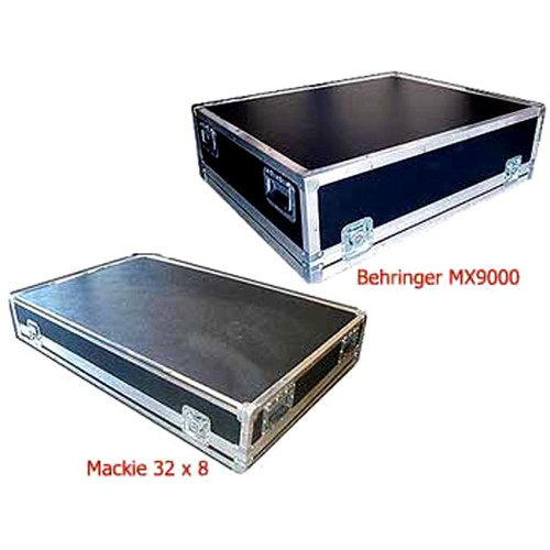 "Mackie 32 X 8  & Behringer MX9000 Mixer Case 2 Very Popular Mixer Cases Both in Stock 1/4"" Ply Construction Mackie ID 46-1/4"" x 28-3/4"" x 5-3/4"" H  Behringer ID 37-1/4"" x 29-3/4"" x  9-1/2"" H"