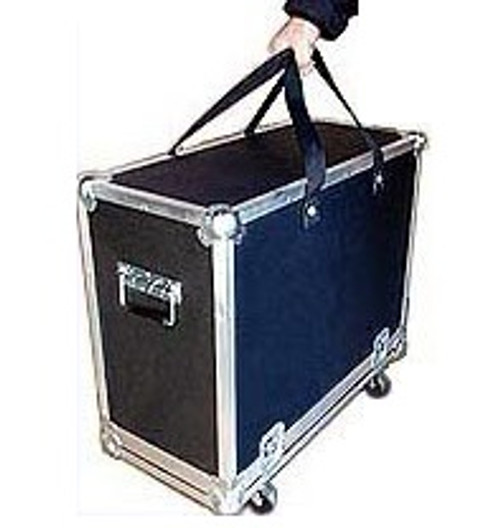 """This inovative new design makes for a very easy to use transport case. Made for amplifiers this case have 2"""" swivel casters and webbing handles along with the additional handles installed on the case. All cases come in two pieces - the bottom tray and the top lid which makes for easy use when you want to keep your instrument in the case after taking off the top lid. This is a very desirable feature for most equipment. There is some assembly required to install the casters and the webbing straps."""