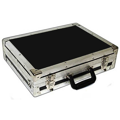 "Handy ATA Mini Breifcase - 1000 Uses 1/4"" Plywood ATA Construction Finished with High Quality Nikel Plated Hardware Carpet Lined Intrerior Complete with Adjustable Should Strap Inside Dimensions 17 1/2"" x 12 3/4"" x 3-3/4"