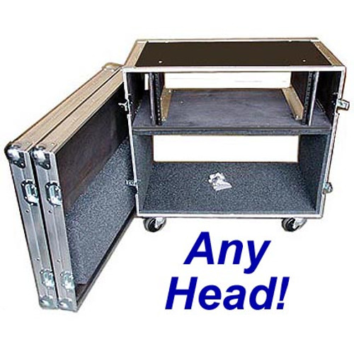 "Rack/Head Combo 1/4"" Medium Duty ATA Case CUSTOM for ANY Head"