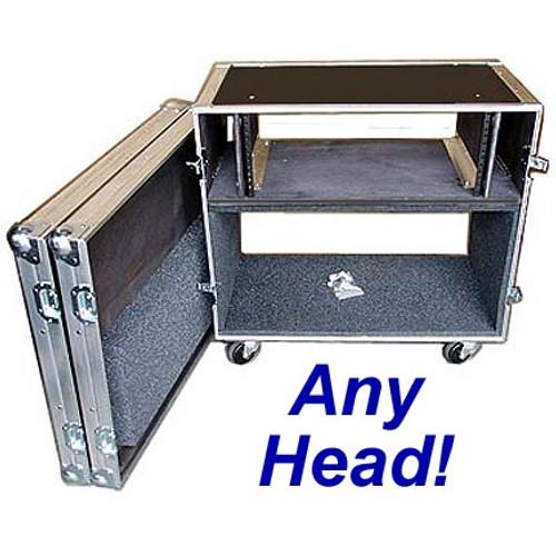 """Rack/Head Combo 1/4"""" Medium Duty ATA Case CUSTOM for ANY Head"""