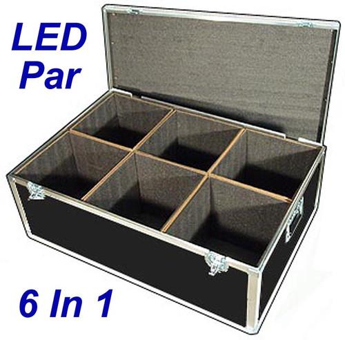 "LED PAR Lights 1/4"" ATA Case - 6 Compartments ID 12""x12""x14"" H"